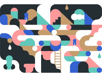 Shape of My Art vector illustration abstract illustration geometric illustration puzzle palette illustration composition harmony abstract shapes geometric vector