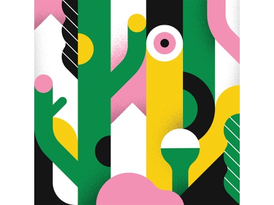 Into the woods tree trees jungle nature woods forest abstract illustration vector illustration vector abstract shapes geometric illustration