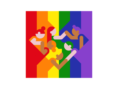 We are one! unity help rainbow love together equality flag colors people gay pride