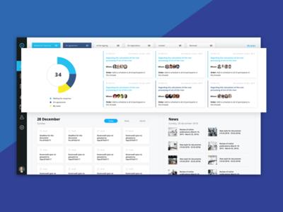Electronic document management system management document information ux ui dashboard