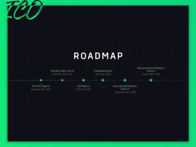 ICO roadmap token ui landing web design roadmap ico