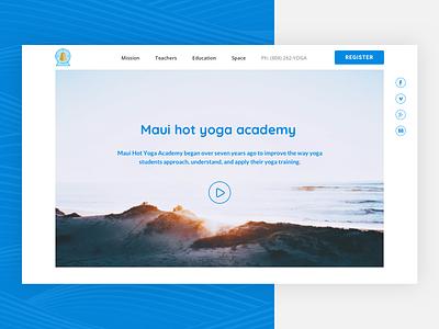 Maui hot yoga acedemy web landing page web design maui academy yoga