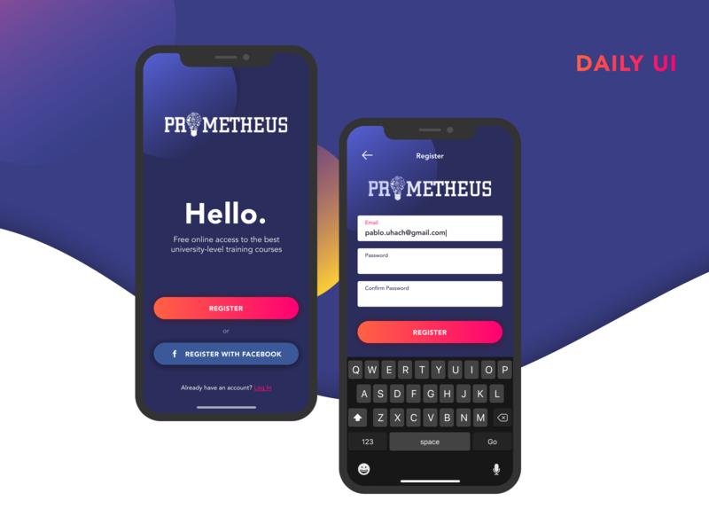 Daily UI challenge #001 — Sign Up register education figma concept mobile app dailyui 001 dailyui ui daily challenge challenge daily 100 daily