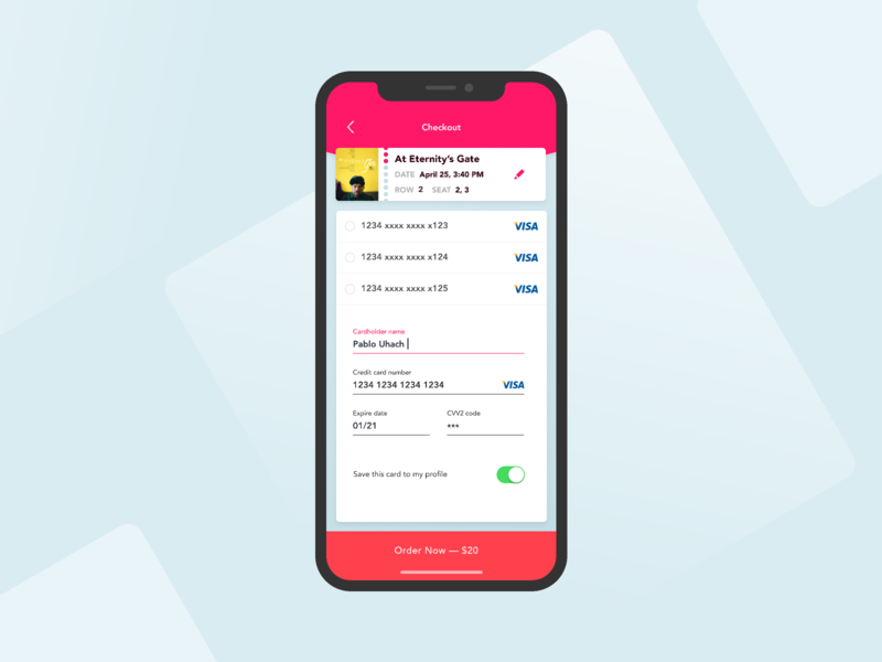 Daily UI challenge #002 — Credit Card Checkout study project checkout figma concept mobile app design mobile app ui daily challange challenge daily100 daily