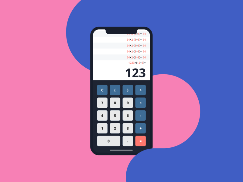 Daily UI challenge #004 — Calculator calculator mobile app mobile figma study project concept ui challenge daily 100 daily