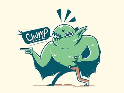 Chump cryptid vector illustration chump creature bat