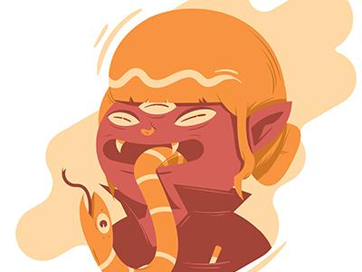 Snake Tongue character design vector tongue illustration snake