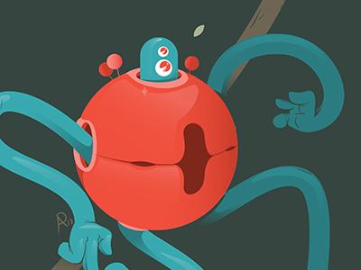 Wiggly strange vector illustrator illustration creature