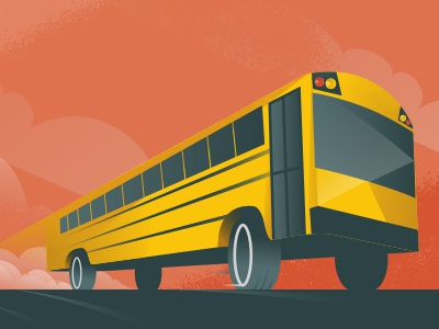 Field Trip illustration design school field trip bus vector school bus