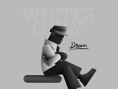 KING | BHM 2020 geometric king luther mlk hank february texture black and white procreate black history month