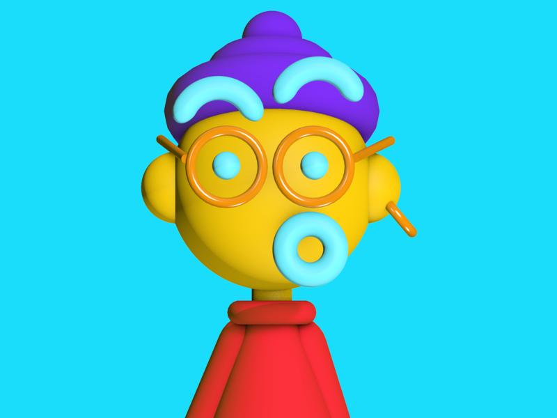 Fuzzy in 3D 3d animation hank fuzzy cartoon blender c4d depth 3d