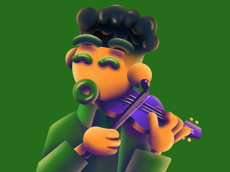 Elijah 3d music musician blacklivesmatter violin hank texture
