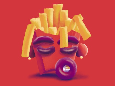 Astro Fries fastfood happymeal hiphop procreate red cactusjack mcdonalds fries