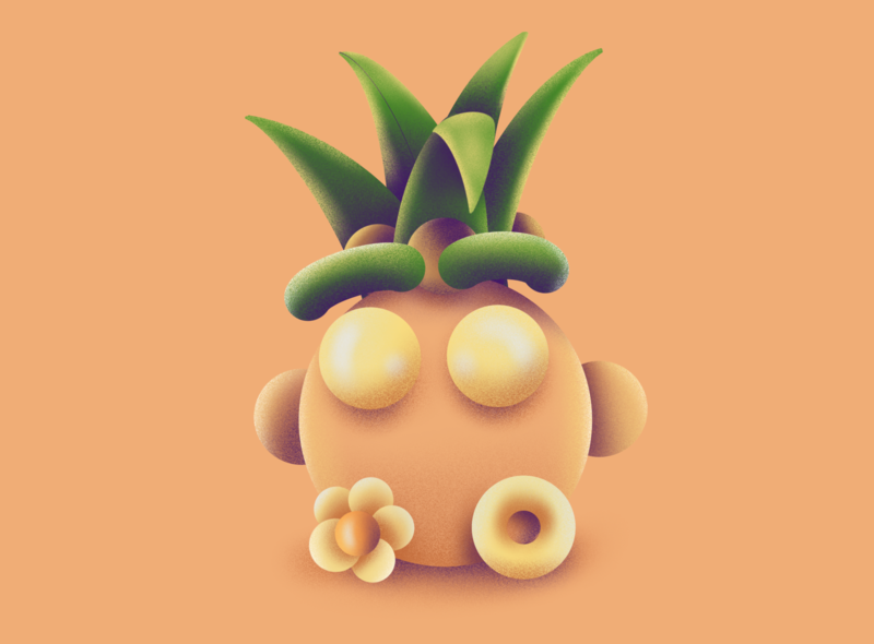 Summer's End procreate texture hank tropical fruit peach fuzzie tropical pineapple