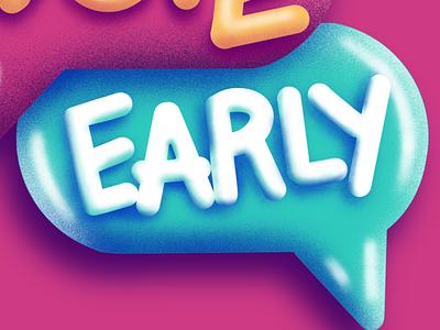 Vote Early Instagram Sticker procreate depth story textures fuzzie sticker instagram
