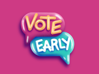 Vote Early Instagram Sticker procreate depth story textures fuzzie sticker instagram