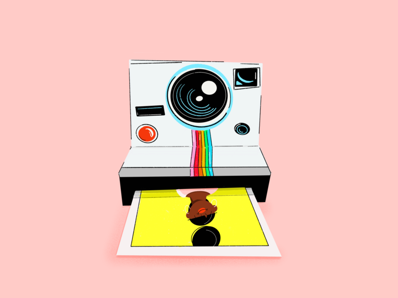 Say 🧀 procreate rainbow color illustration photo polaroid