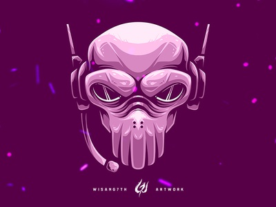 Mascot Logo Pinky Skull