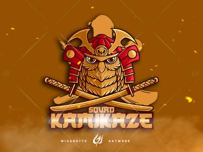 Mascot Logo Squad Kamikaze
