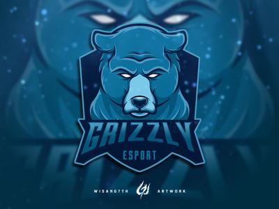 Mascot Logo Grizzly Esport