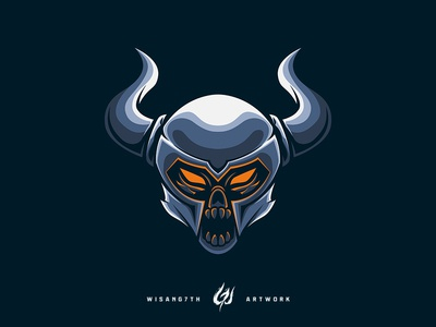 Mascot Logo Knight Skull Head