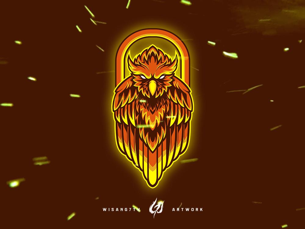 Mascot Logo Fire Owl owl logo owl shoot graphic twitch mascot logo illustration design branding vector gaming sports sport esports esport mascot logo