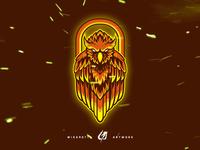 Mascot Logo Fire Owl