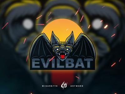 Mascot Logo Team EvilBat