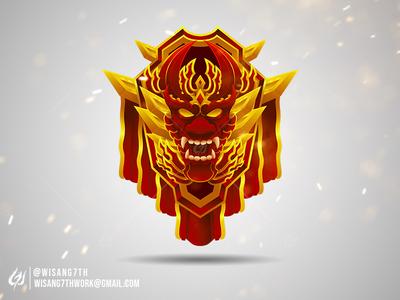 Badge emblem dragon