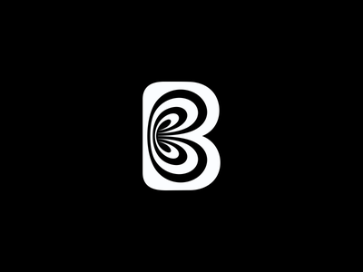 Letter B Illusion mark illusion lettering letter b logotype monogram логотип jkdesign logo jkd