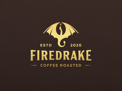 Firedrake | Coffee roasted wings bean negative negativespace roasted coffee dragon krivenkodesign jkd logotype jkdesign logo