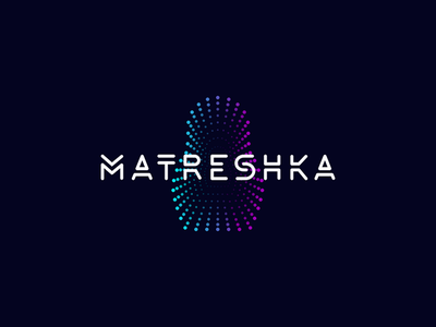 Matreshka interactive ray techno digitalart digital logotype matryoshka krivenko jkdesign logo