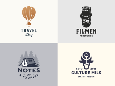 JK Logos Collection/3 logofolio collection behance logotype logo krivenko