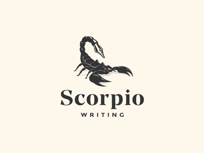 Scorpio Writing journalism magazine scorpio writer pen krivenko logotype logo jkdesign