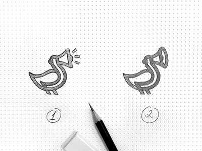 Speaker duck Logo branding microphone orator loudspeaker speaker bird linelogo duck illustration logotype логотип jkdesign jkd logo