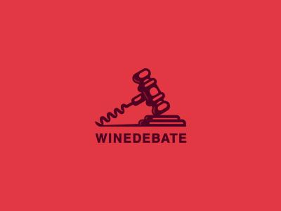 WineDebate jkdesign штопор молоток суд вино логотип corkscrew hammer judg wine jkd logo
