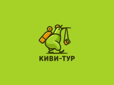 Киви-Тур jkdesign турист туроператор туризм киви bird логотип tour tourist kiwi logo jkd