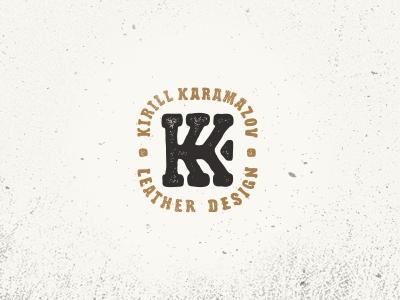 Kirill Karamazov leather кожа letter монограмма логотип monogram kk logo jkdesign jkd