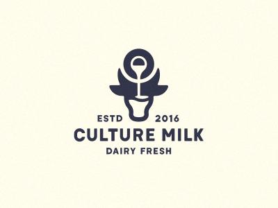 Culture Milk логотип молоко корова jug dairy farm logo jkdesign jkd bull cow milk