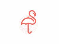 Flamingo + Umbrella