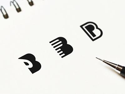 PB bp negativespace логотип negative minimal logo monogram jkdesign grid b p pb