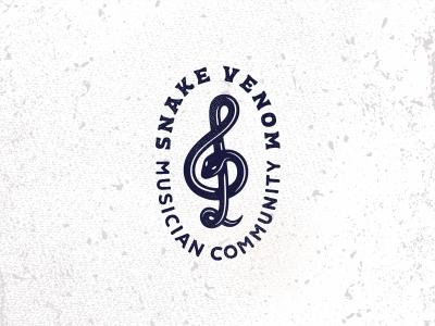 Snake venom музыка логотип tattoo змея trebleclef snake music logotype logo jkdesign jkd