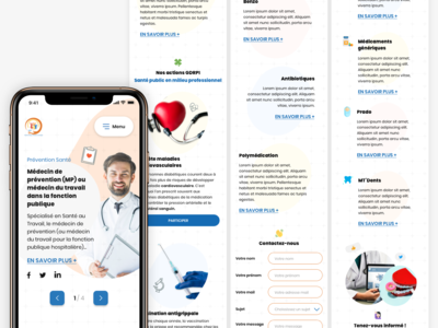 Vaccin insurance mobile landing page