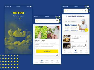 Producer market app design