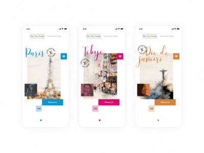 LV City Guide app redesign