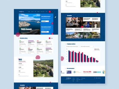 Job platform landing page