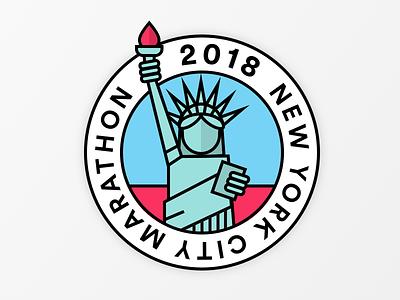 New York Marathon 2018 work in progress marathon statue of liberty new york city newyork logo