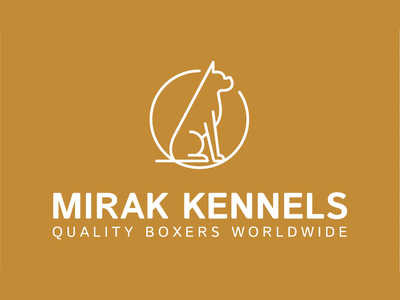 Mirak Kennels logo usa brand design dog logo outline animal dog illustration color pet brand dog minimal graphic typography branding logo ui ux vector illustration design