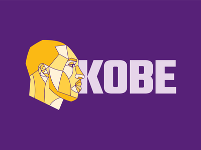 Kobe lettering illustration digital mamba kobebryant vector lakers purple yellow color design play basketball bryant illustration kobe bryant kobe