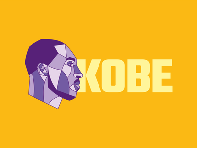 Kobe lettering vector illustration digital yellow purple color lakers mamba basketball design illustration design illustration bryant kobebryant kobe bryant kobe